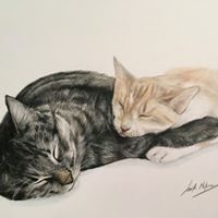 Sibling Love- Colored Pencil