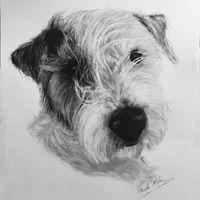 Terrier- Graphite Pencil